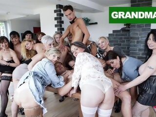 grandmams granny orgy masturbate old young group hardcore